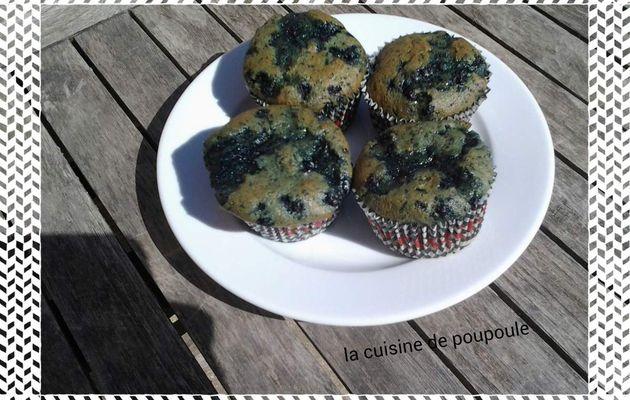 Muffins aux myrtilles WW au thermomix ou sans