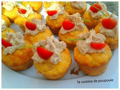 Cupcake au thon et tomate cerise au thermomix ou sans