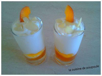 Verrine fromage blanc abricots et amandes