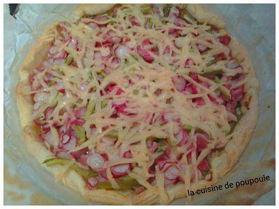 Tarte aux radis rose au thermomix ou sans