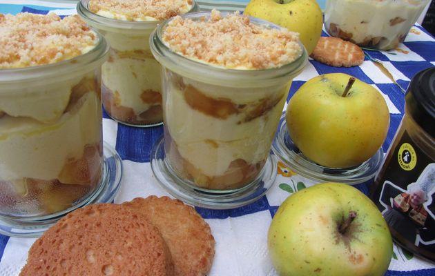 Tiramisu aux pommes et caramel au beurre salé