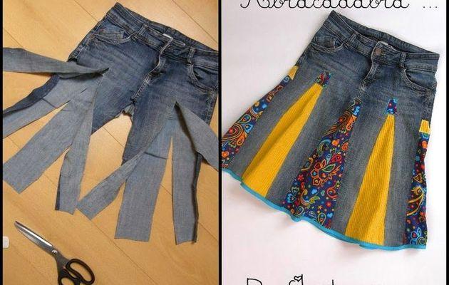 Recycler ses jeans en jupes