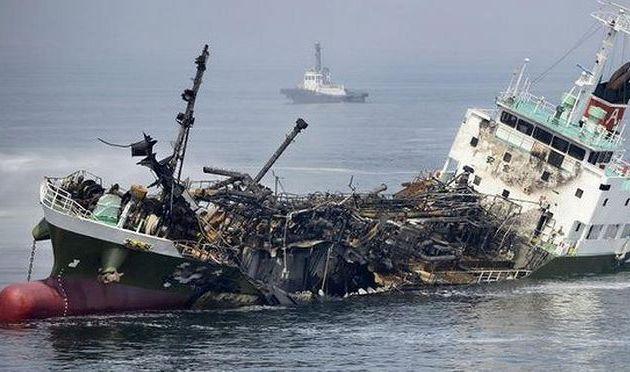 Vidéo - un pétrolier explose au large du Japon