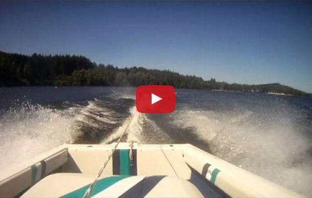 VIDEO - un accident de ski nautique pas banal...