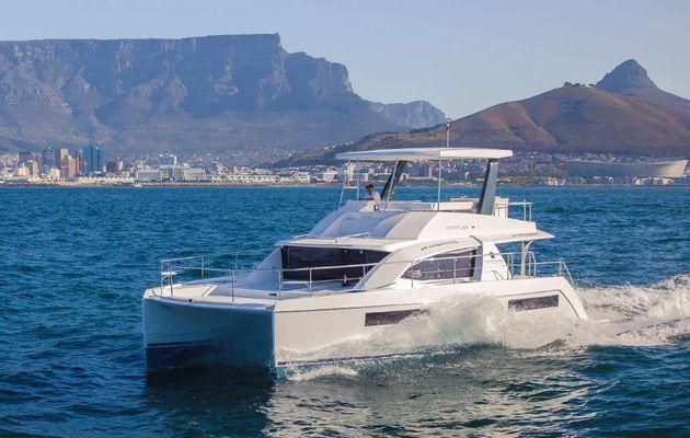 Exclusif - 1er photo reportage sur le nouveau catamaran motoryacht Leopard 43 PC