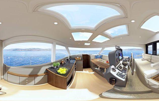 Scoop - 2 visuels panoramiques de l'intérieur du futur Bavaria E40