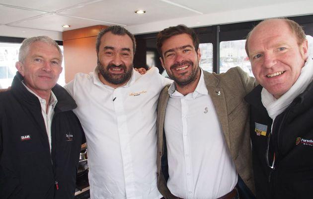 A Deauville, Stéphane Carbone, Porsche et Bénéteau ensemble pour le départ du Trawler Gourmand