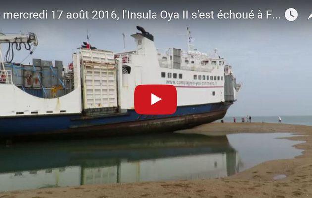 VIDEO - le ferry de l'île d'Yeu s'échoue sur la plage de Fromentine (85)