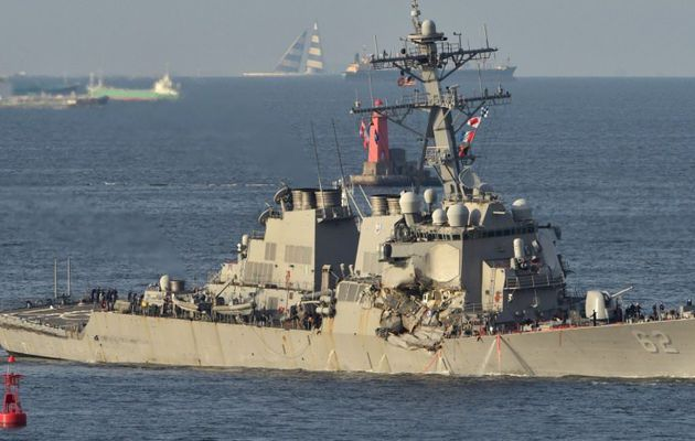 L'US Navy mise en cause dans la collision entre un destroyer et un cargo philippin au large du Japon