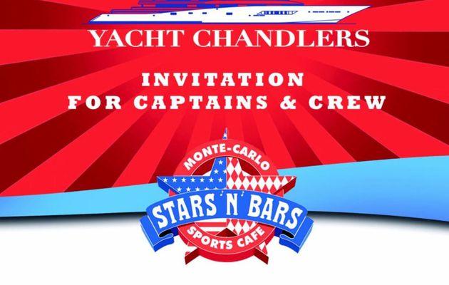 Monaco Yacht Show - Happy Hour ce soir à  19h00  au Stars'N'Bars, pour les capitaines de yachts et leurs équipages