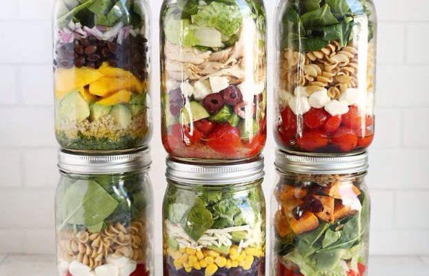 Salade jars heathly!