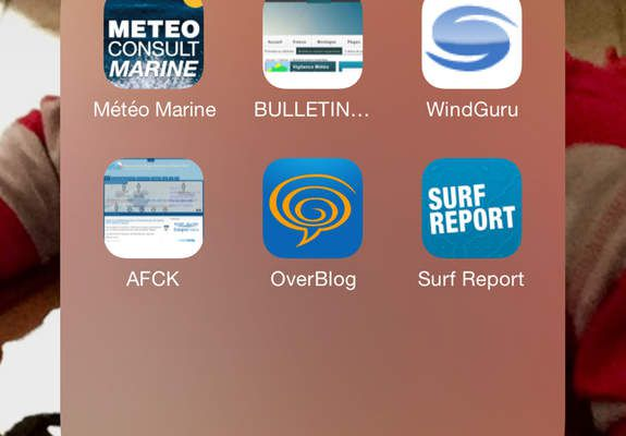 Application surf report sur mobile, prévisions de Houle.