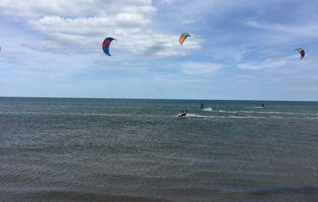 Kitesurf sur le spot de la vieille nouvelle ce samedi