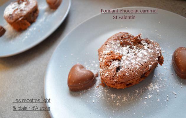 Fondant au chocolat caramel St valentin