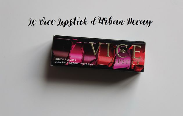 Backtalk, mon Vice Lipstick d'Urban Decay