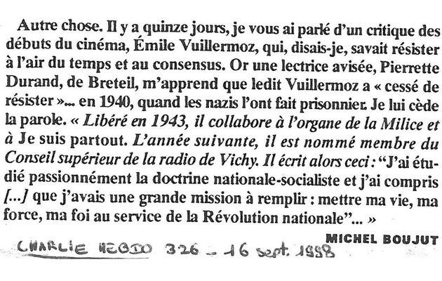 """Charlie Hebdo"", n°326, 16 septembre 1998"