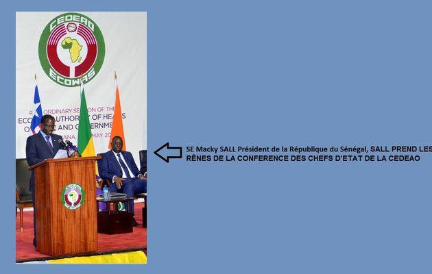 LE PRESIDENT SENEGALAIS MACKY SALL PREND LES RÊNES DE LA CONFERENCE DES CHEFS D'ETAT DE LA CEDEAO