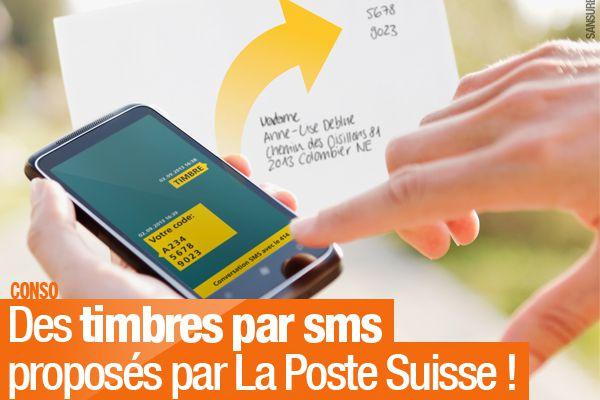 Des timbres par sms proposés par La Poste Suisse ! #timbre