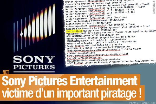 Sony Pictures Entertainment victime d'un important piratage ! (mis à jour) #SPEData