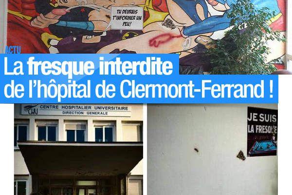 La fresque interdite de l'hôpital de Clermont-Ferrand ! #fresque