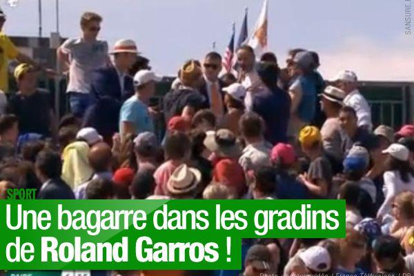 Une bagarre dans les gradins de Roland Garros ! #RG15