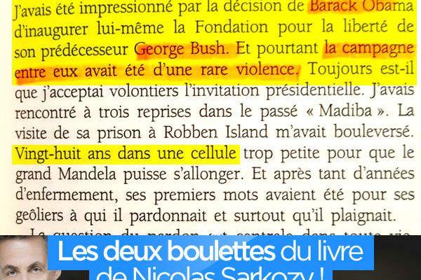 Les deux boulettes du livre de Nicolas Sarkozy ! #Sarkozy