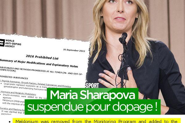 Maria Sharapova suspendue pour dopage ! #Tennis