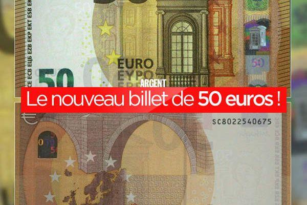 Le nouveau billet de 50 euros ! #cash