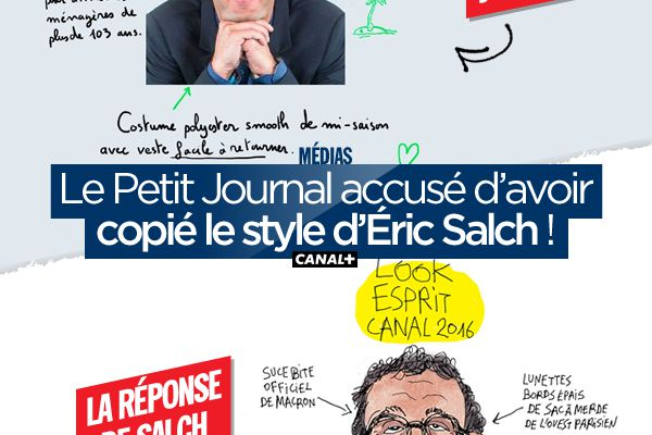 Le Petit Journal accusé d'avoir copié le style d'Éric Salch ! #plagiat