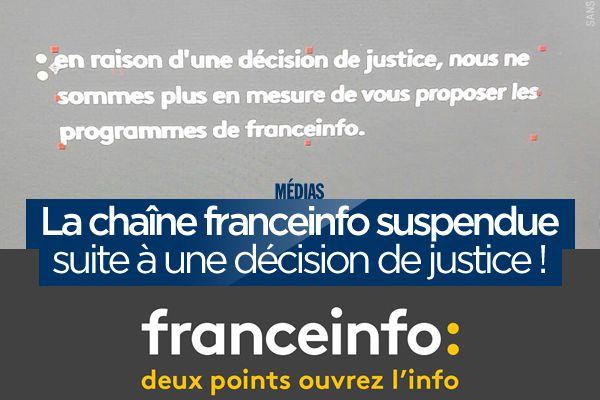 La chaîne franceinfo suspendue suite à une décision de justice ! #franceinfo