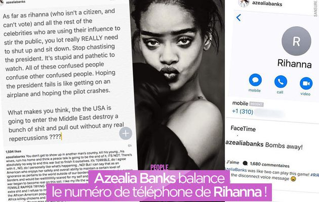 Azealia Banks balance le numéro de téléphone de Rihanna ! #clash