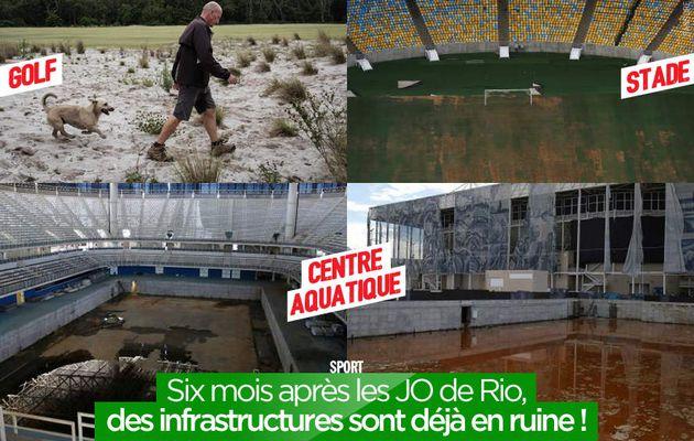 Six mois après les JO de Rio, des infrastructures sont déjà en ruine ! #Rio2016