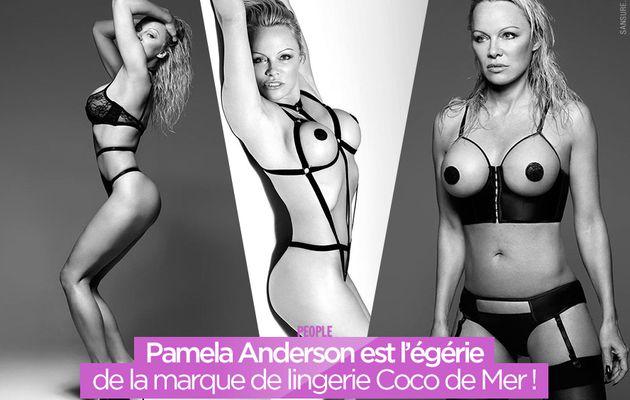 Pamela Anderson est l'égérie de la marque de lingerie Coco de Mer ! #Sexy
