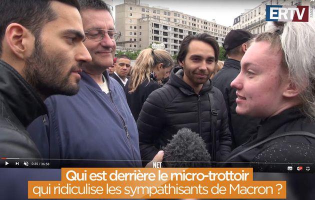 Qui est derrière le micro-trottoir qui ridiculise les sympathisants de Macron ? #manipulation