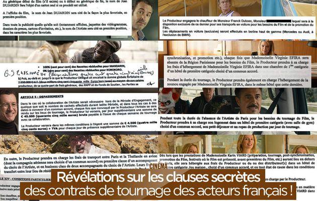 Révélations sur les clauses secrètes des contrats de tournage des acteurs français ! #caprices