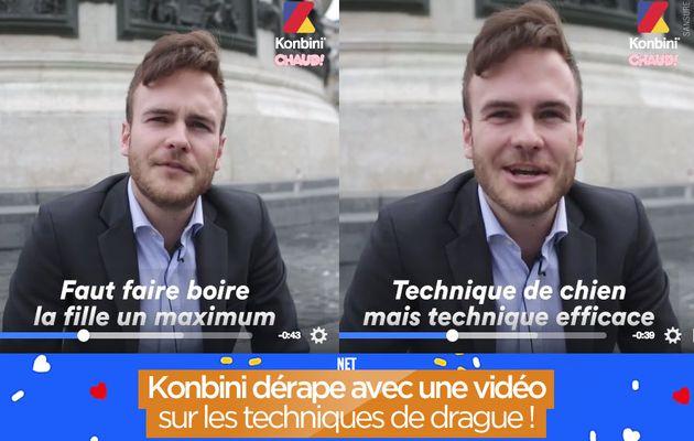 Konbini dérape avec une vidéo sur les techniques de drague ! #Badbuzz