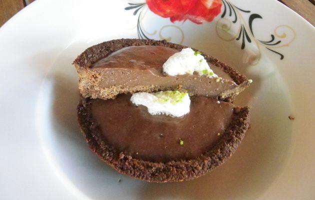 tarte choco sans gluten
