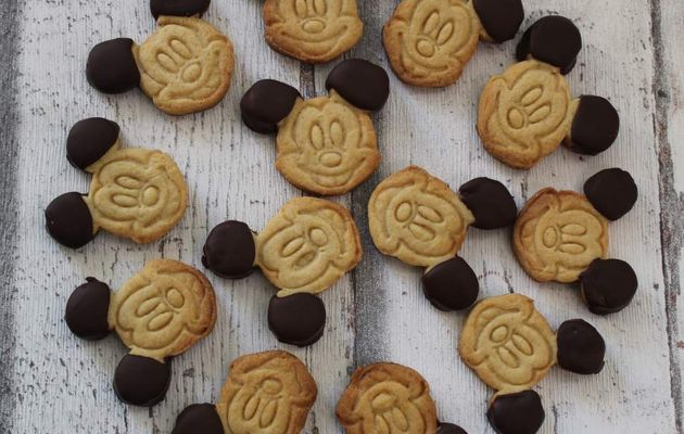 Biscuits Mickey vanille chocolat