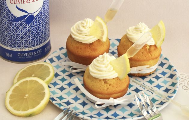 Cupcakes citron / huile d'olive
