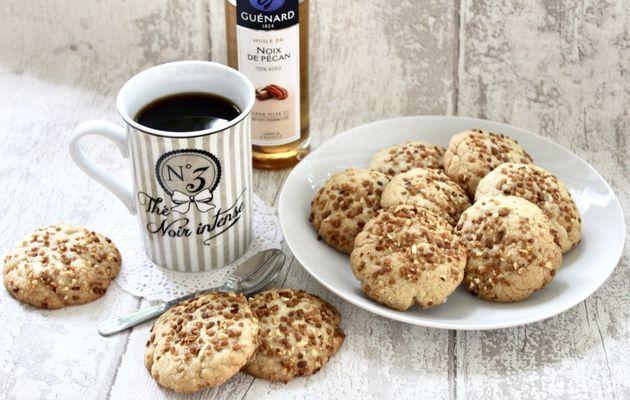Cookies à l'huile de noix de Pécan et amandes torréfiées