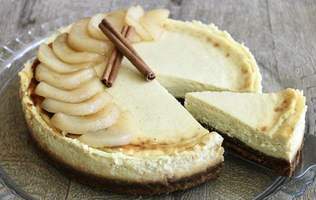 Cheesecake aux pommes caramélisées