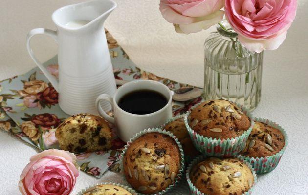 Muffins aux graines et aux raisins secs