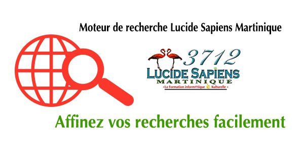 @ Le moteur de recherche personnalisé de Lucide Sapiens Martinique