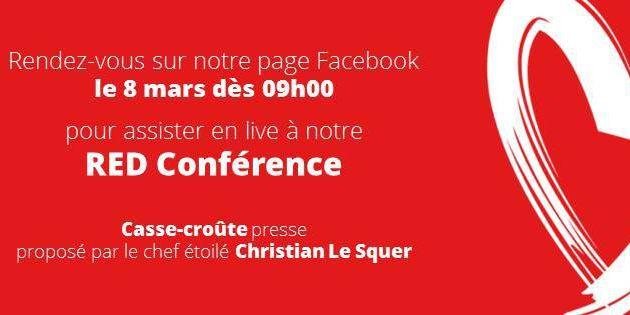 Journée de la Femme Conférence de press du  RED DAY au George V