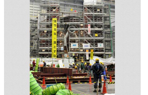 Nahara center builds model of part of No.1 containment vessel
