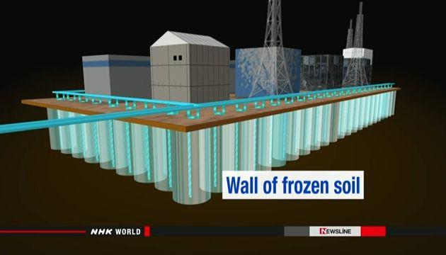 TEPCO starts freezing soil