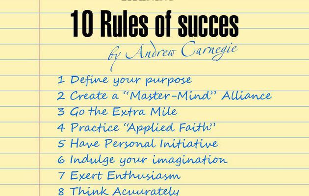 Rules of success....