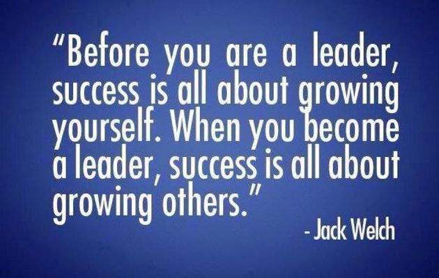 Growing yourself first.