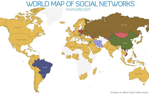 Réseaux sociaux dans le monde ou à chaque peuple son réseau social