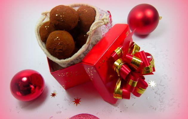 Truffes au chocolat coeur pâte d'amande